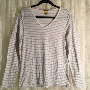 Eddie Bauer Long Sleeve Pull Over Striped Shirt